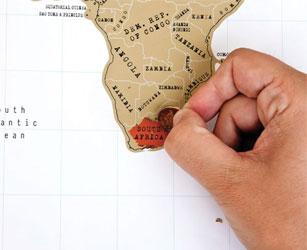 Kras wereldkaart ofwel de scratch map
