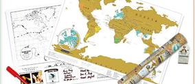 Scratch map reiseditie wereld kraskaart